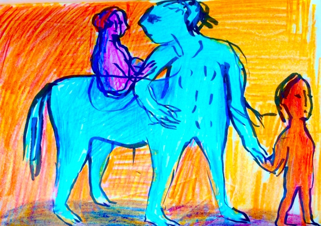 Blue horseman