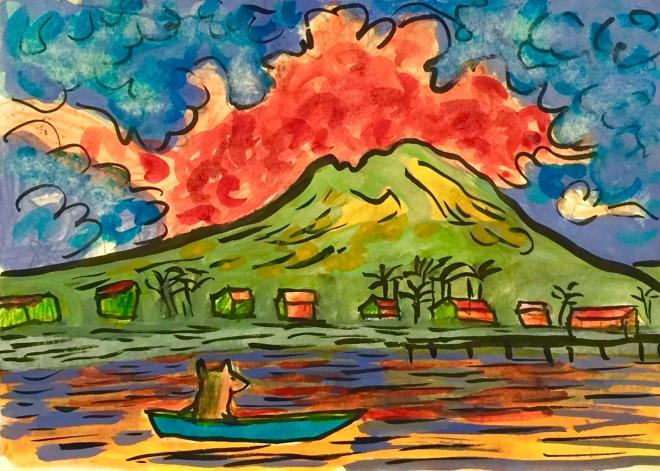 Chuw & a volcano