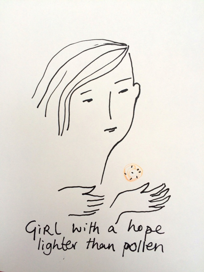 girl with hope