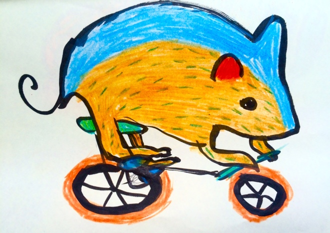 mouse on a bike